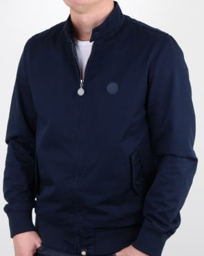 Pretty Green Cotton Harrington Jacket Navy
