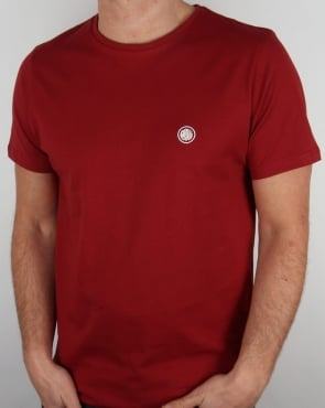 Pretty Green Crew Neck Tee Dark Red
