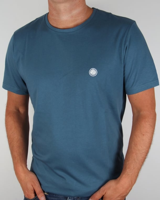 Pretty Green Crew Neck Tee Teal Blue