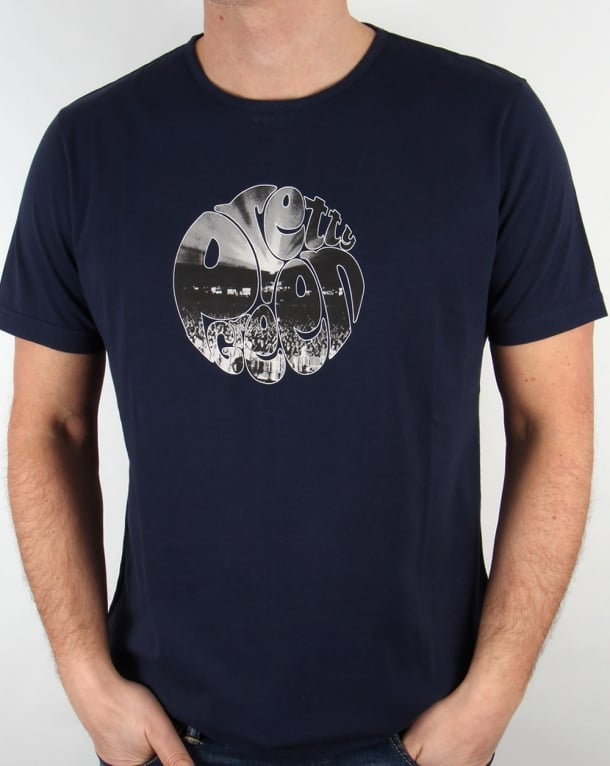 Pretty Green Crowd Logo T-shirt Navy