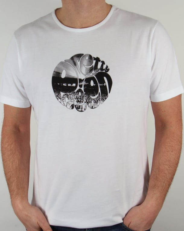 Pretty Green Crowd Logo T-shirt White