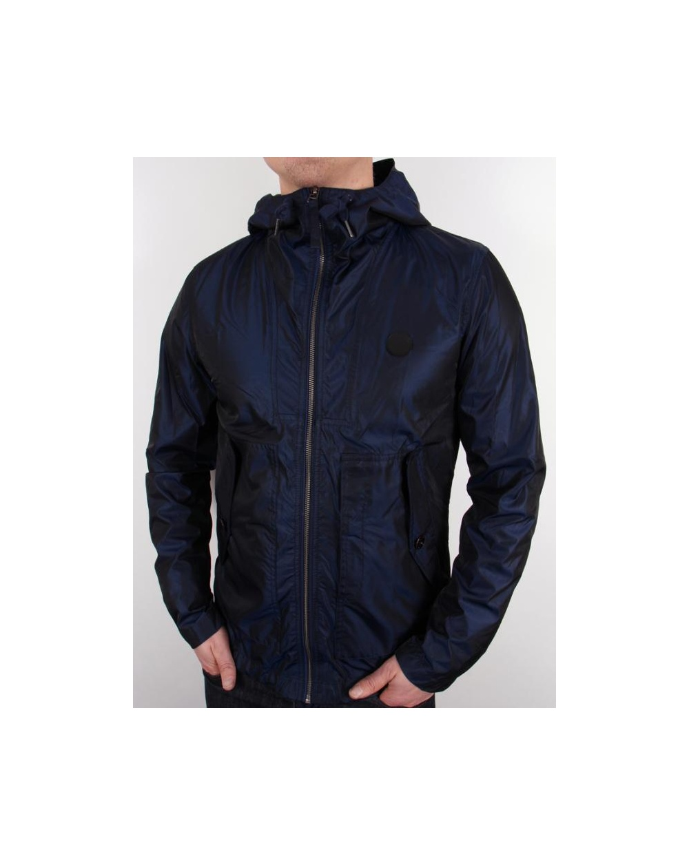 pretty green danbury hooded jacket navy