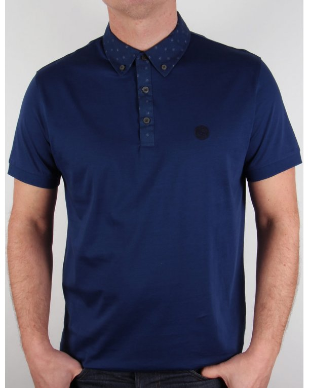 Pretty Green Dawish Polo Shirt Navy Blue