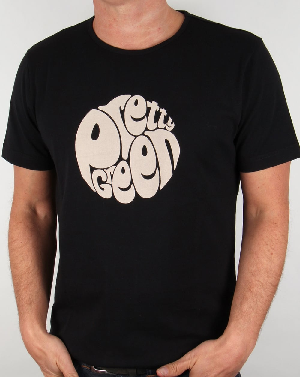 Pretty Green Eastfields Logo T Shirt Black Design Tee Mens
