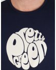Pretty Green Eastfields Logo T-shirt Navy Blue