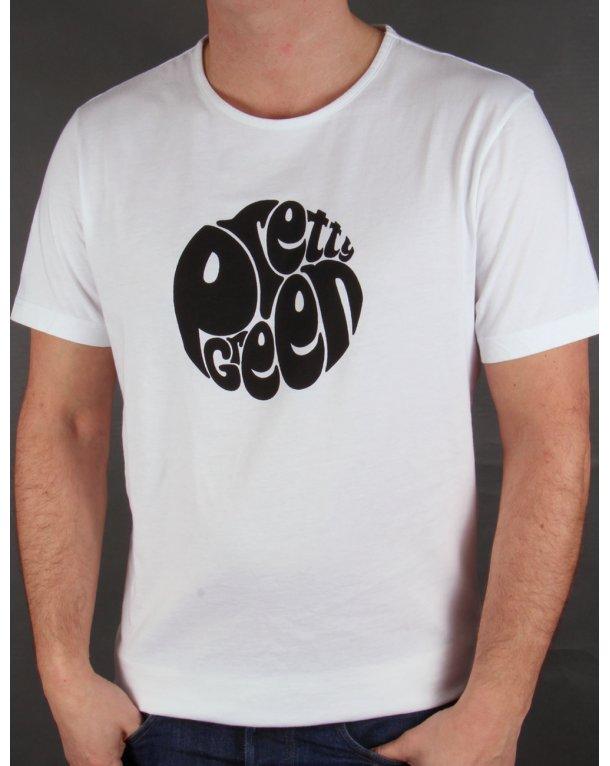 Pretty Green Eastfields Logo T-shirt White