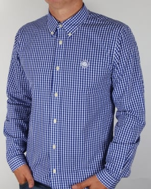 Pretty Green Ebsworth Gingham Shirt Navy