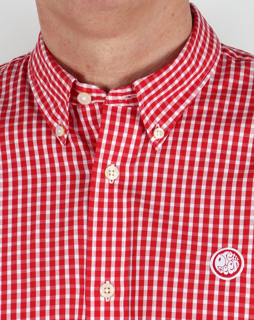 Pretty green red gingham shirt check ebsworth 80s for Red and green checked shirt