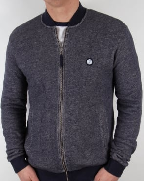 Pretty Green Emsworth Zip Sweat Navy