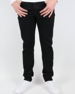 Pretty Green Erwood Slim Fit Jeans Black Rinse