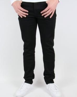Pretty Green Erwood Slim Fit Jeans Black Rinse