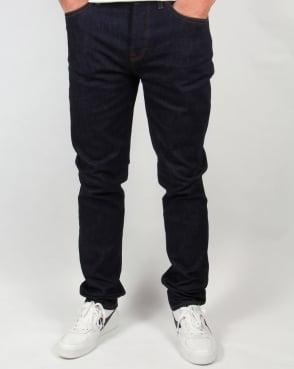 Pretty Green Erwood Slim Fit Jeans Rinse Dark Wash