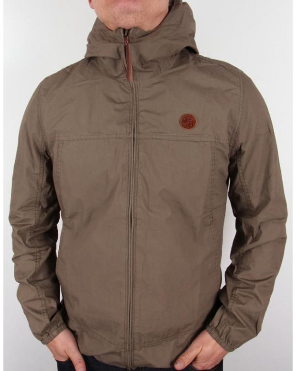 Pretty Green Festival Jacket Khaki Green