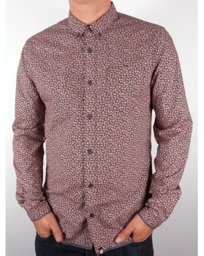 Pretty Green Floral Dot Shirt Navy