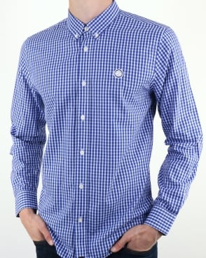 Pretty Green Francis Gingham Shirt Blue