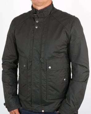 Pretty Green Garrat Waxed Jacket Green