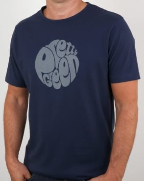 Pretty Green Gillespie Logo T Shirt Navy