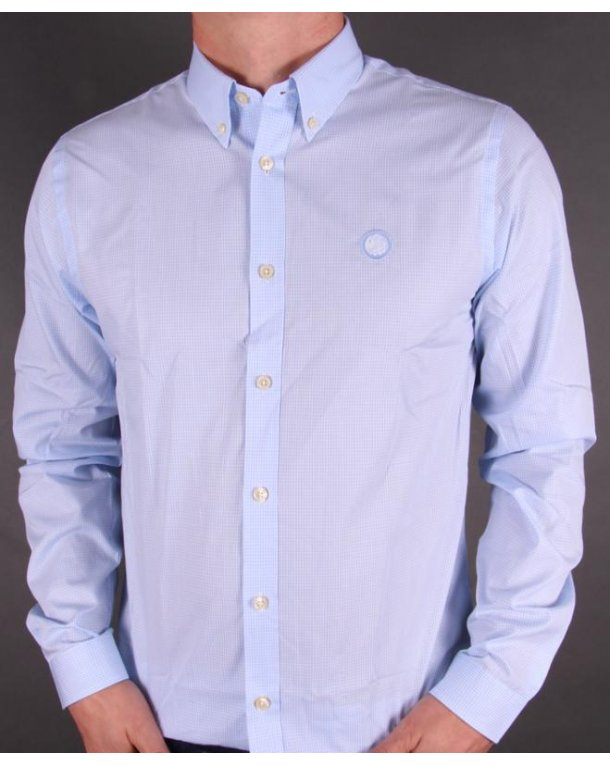 Pretty Green Gingham Shirt Light Blue