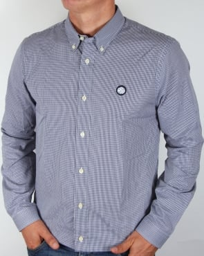 Pretty Green Gingham Shirt Navy