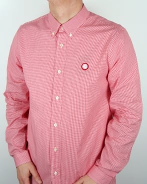 Pretty Green Glendale Gingham Shirt Red