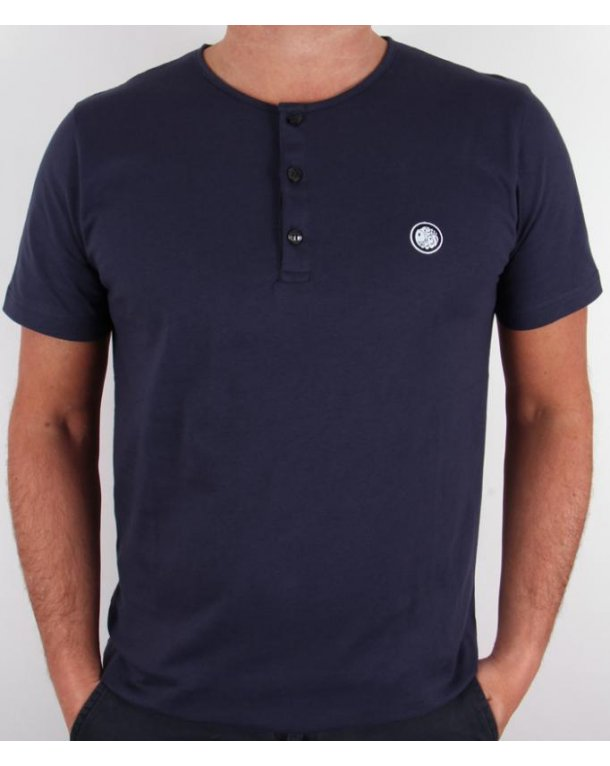 Pretty Green Grandad Tee Navy