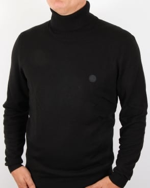 Pretty Green Harley Knitted Roll Neck Black
