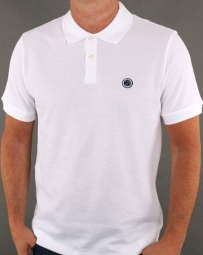 Pretty Green Hartford Polo Shirt White/navy