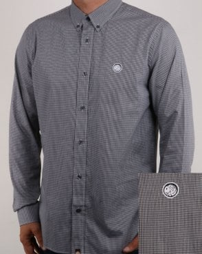 Pretty Green Hendry Gingham Shirt Black