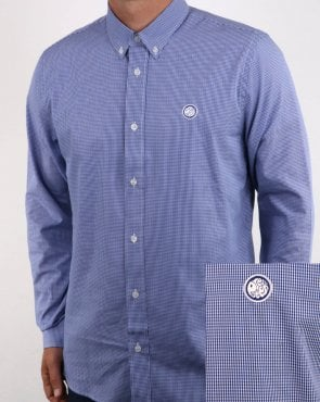 Pretty Green Hendry Gingham Shirt Blue