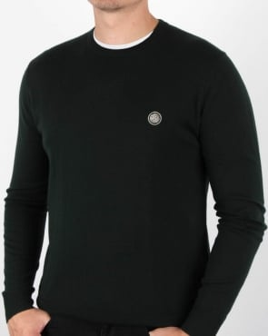 Pretty Green Hinchcliffe Crew Neck Jumper Green