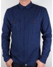 Pretty Green Jackson Shirt Navy Blue