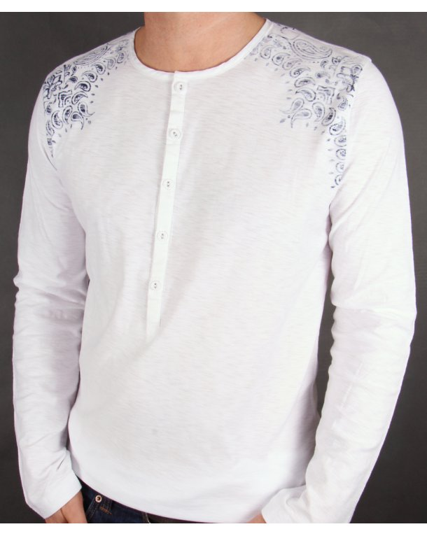 Pretty Green Jerry Kaftan White