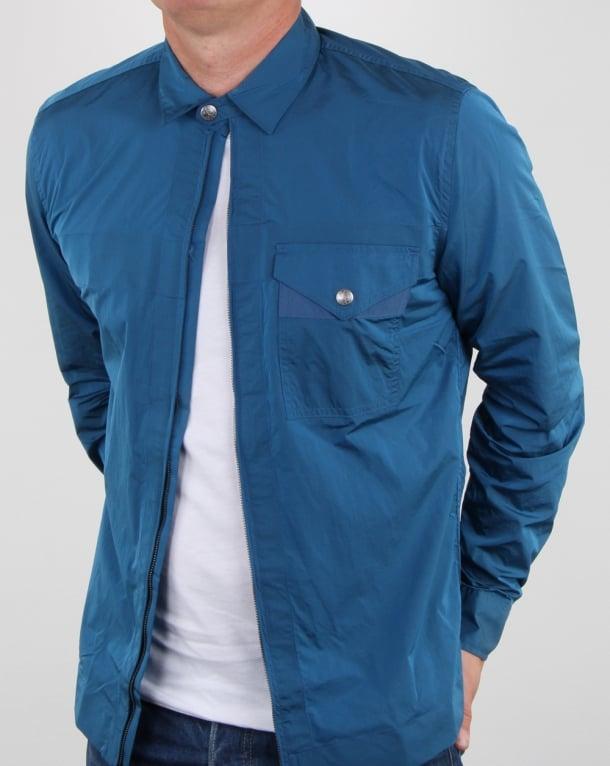 Pretty Green Kaiser Zip Jacket Blue