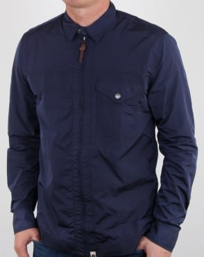 Pretty Green Kaiser Zip Jacket Navy