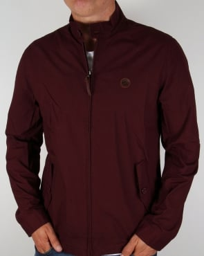 Pretty Green Kingsway Harrington Burgundy