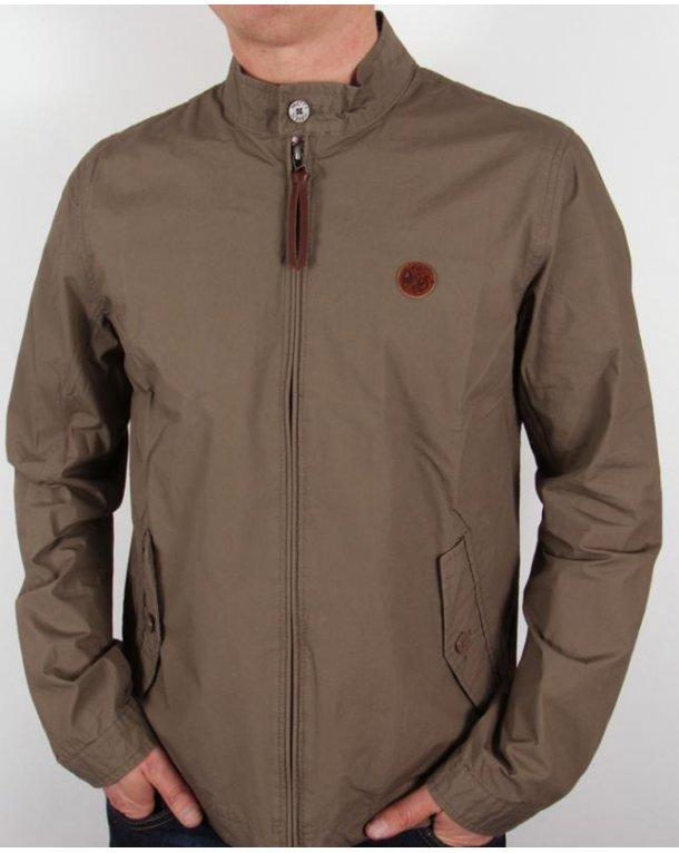 Pretty Green Kingsway Harrington Khaki Green
