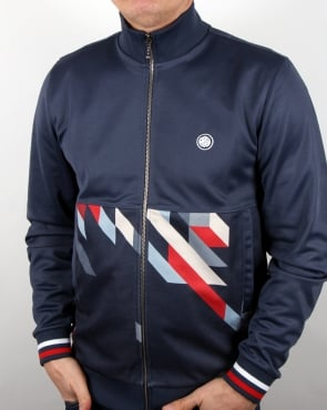 Pretty Green Kirby Track Top Navy