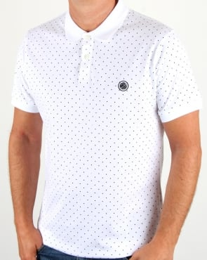 Pretty Green Kompany Polka Dot Polo White