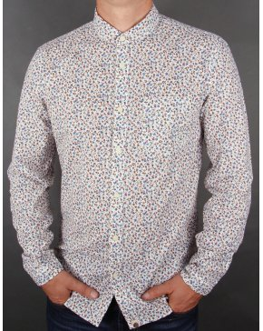Pretty Green Laden Floral Shirt Off White