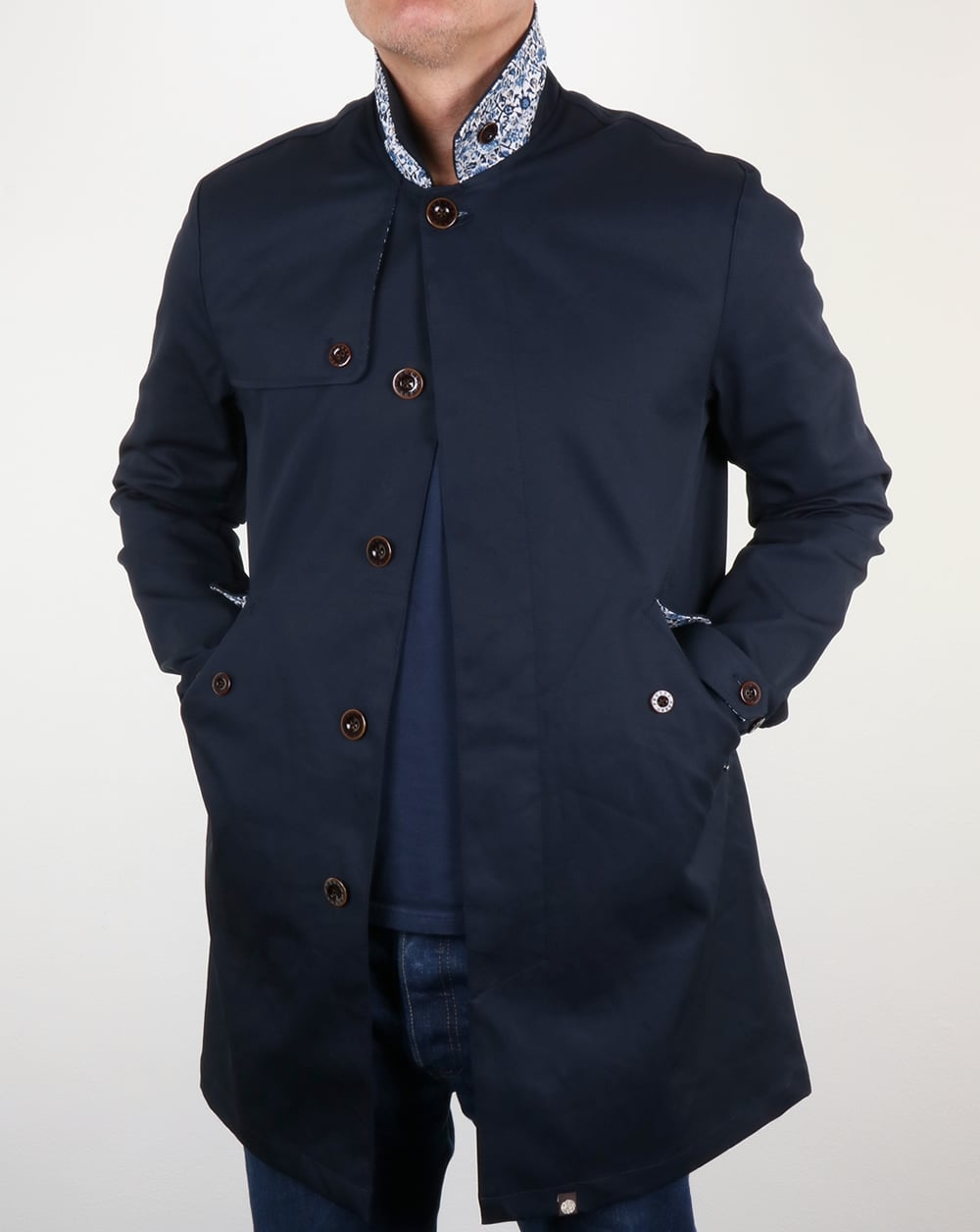 enjoy complimentary shipping hoard as a rare commodity best website Pretty Green Layton Mac Navy