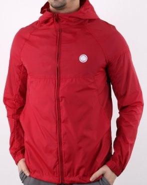 Pretty Green Lightweight Zip Up Hooded Jacket Red 52dabd2e2