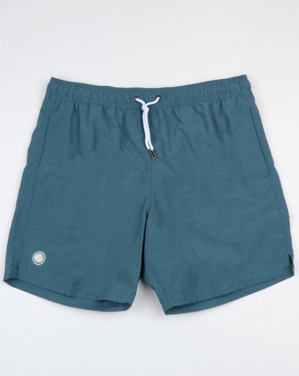 Pretty Green Logo Swim Shorts Blue