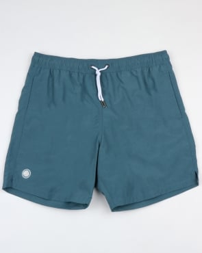 Pretty Green Logo Swim Shorts Blue