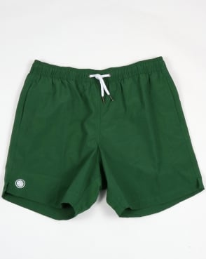 Pretty Green Logo Swim Shorts Dark Green