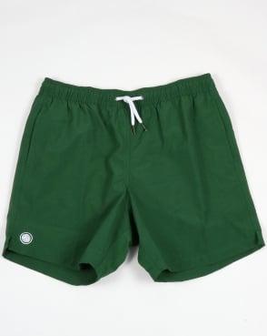 Pretty Green Logo Swim Shorts Dark Green