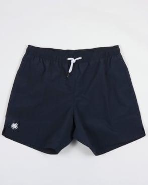 Pretty Green Logo Swim Shorts Navy