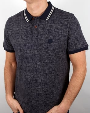 Pretty Green Mayflower Polo Shirt Navy