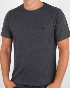 Pretty Green Mitchell T Shirt Dark Grey Marl