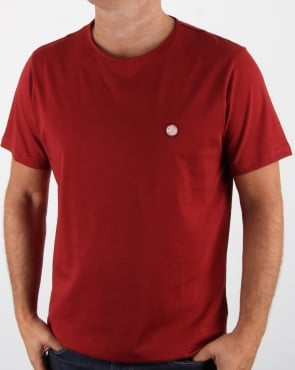 Pretty Green Mitchell T Shirt Dark Red