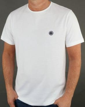 Pretty Green Mitchell T Shirt White/navy